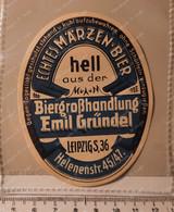 Biere Etiquette Bieretiketten Emil Grundel Leipzig #A5 - Bier