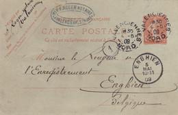 Carte Postale Envoyé En 1909 De Valenciennes France A Enghien Belgique (pk79203) - Unclassified