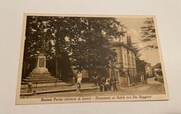 BOSISIO PARINI (DINTORNI DI LECCO) - MONUMENTO AI CADUTI CON VIA MAGGIORE - Lecco