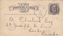 Carte Postale Envoyé En 1876 De Keokuk (uSA) A Quebec Canada (pk79205) - Unclassified