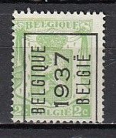 PREO 319 Op Nr 418A BELGIQUE 1937 BELGIE - Positie A - Typo Precancels 1936-51 (Small Seal Of The State)