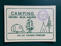 AUGUSTA  ( SIRACUSA ) CAMPING VILLAGGIO MEGARA IBLEA S. S. CATANIA-SIRACUSA - Siracusa