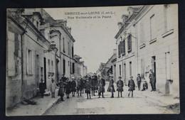 Chouzé Sur Loire -Rue Nationale Et La Poste - Autres Communes
