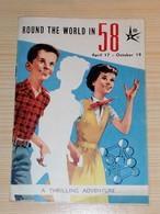 Brochure Expo 58 Bruxelles En Anglais Illust. Hergé (Tintin), Will ( Tif Et Tondu) Et Jean Graton ( Michel Vaillant) - Verzamelingen