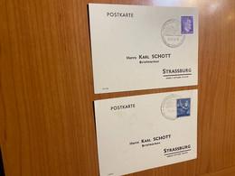Lot 2 Postkarte - Pour Strasbourg Adolf Hitler Platz 1943/44 - Other