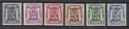 PRE339/344 X Scharnier - Typo Precancels 1936-51 (Small Seal Of The State)