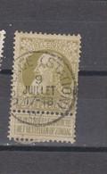 COB 75 Centraal Gestempeld Oblitération Centrale OOSTENDE (STATION) - 1905 Breiter Bart