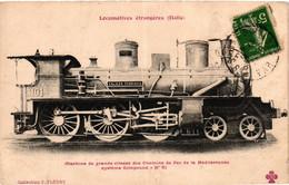 Locomotive - Italie - Machine De Grande Vitesse Des Chemins-de-fer De La Méditerranée - Equipo