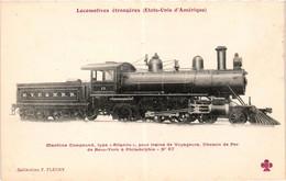 Locomotive - USA - Machine Compound Type Atlantic - Chemin-de-fer New-york-philadelphie - Equipo