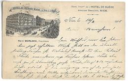 NICE - HOTEL DE BERNE - Avenue Beaulieu - Cafés, Hoteles, Restaurantes