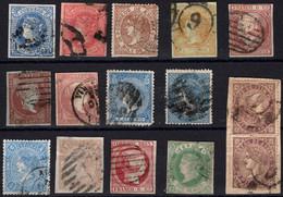 Isabel II.Conjunto De 15 Sellos.USADO.Diversas Calidades - Gebraucht