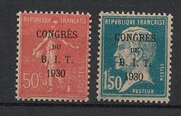 France - 1930 - N°Yv. 264 à 265 - Congrès Du BIT - Neuf Luxe ** / MNH / Postfrisch - Ungebraucht