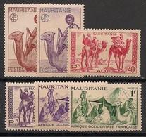 Mauritanie - 1943-44 - N°Yv. 125 à 130 - Série Complète - Neuf Luxe ** / MNH / Postfrisch - Ongebruikt