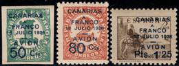 1937.MNH.Ed:**11/13.Canarias.Serie Completa.Sellos Habilitados - 1931-50 Ungebraucht