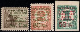 1937.MNH/MH.Ed:**/*8/10.Canarias.Serie Completa.Sellos Habilitados.Marquilla ROIG - 1931-50 Ungebraucht
