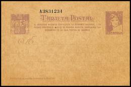 1938.MNG.Ed:(*)EP77n.EP.2ªRepública.Matrona De Frente.25 Cts Lila S/anteado.Número De Serie Con 7 Cifras - 1931-....