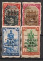 Soudan - 1941 - N°Yv. 125 à 128 - Secours National - Série Complète - Neuf Luxe ** / MNH / Postfrisch - Neufs