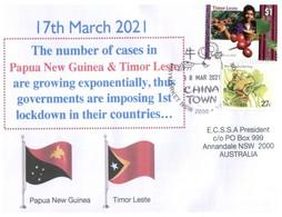 (LL 10) Australia - COVID-19 Lockdown Number 1 In Timor Leste - With Timor Leste / Eaest Timor Stamp - Malattie