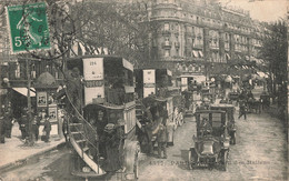 75 Paris Omnibus Odeon Ligne 124 Station 127 Boulevard Des Italiens Voiture Automobile - Public Transport (surface)