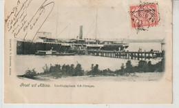 SURINAM Groet Uit Albina Landingsplaats S.S.Curaçao 1907 - Surinam