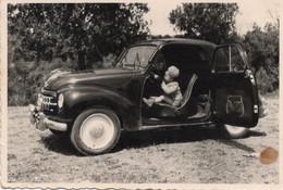FO- 003789- FOTO ORIGINALE -  BIMBA ALLA GUIDA DELLA FIAT TOPOLINO -   CM. 9 X 6 - Cars