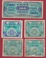 """5 Billets """"1944 Drapeau/France"""" Dans L 'état Lot N °1 - 1944 Drapeau/France"""