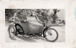 FO-04272- FOTOCARTOLINA - RAGAZZI SU SIDECAR PRIMI ANNI DEL 1900 - Sonstige