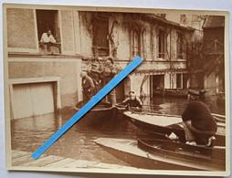 1925 Le Perreux Viaduc Les Inondations Sauvetage En Barques Crues De La Seine Et De La Marne - Luoghi