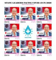 Liberia 2021, Against Covid, Leader, Albert Of Monaco, Red Cross, BF IMPERFORATED - Liberia
