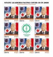 Liberia 2021, Against Covid, Leader, G. D'Estaing, Red Cross, BF IMPERFORATED - Liberia