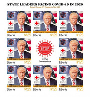 Liberia 2021, Against Covid, Leader, Trump, Red Cross, BF IMPERFORATED - Liberia