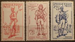 R2452/489 - 1941 - COLONIES FR. - A.E.F. - N°87 à 89 NEUFS* - Unused Stamps