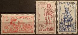 R2452/490 - 1941 - COLONIES FR. - CAMEROUN - N°197 à 199 NEUFS* - Unused Stamps