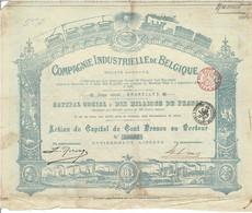 Titre Ancien - Compagnie Industrielle De Belgique Société Anonyme - Titre De 1898 - Déco N° 50692 - Industry