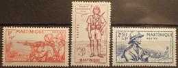 R2452/502 - 1941 - COLONIES FR. - MARTINIQUE - N°186 à 188 NEUFS* - Unused Stamps