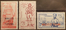 R2452/512 - 1941 - WALLIS Et FUTUNA - N°87 à 89 NEUFS* - Unused Stamps