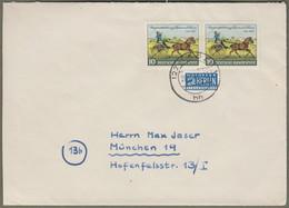 """Bund: Brief Mit Paar Mi.-Nr. 160 ST: """" Tag Der Briefmarke 1952 """"     X - Storia Postale"""