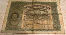 FUNFZIG FRANKEN SCHWEIZERISCHE NATIONALBANK -CINQUANTE FRANCS - 1938 - Switzerland