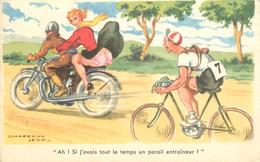 """CPSM ILLUSTRATEUR CHAPERON  """"Ah Si J'avais Tout Le Temps"""" / VELO - Chaperon, Jean"""