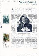 """"""" BOTTICELLI : VENUS ET LES GRACES """"  Sur Document Philatélique Officiel De 2000 N° YT 3301 Parfait état - Impressionisme"""