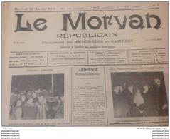 1939 Journal LE MORVAN RÉPUBLICAIN - AUTUN - SAÔNE ET LOIRE - CINEMA - LE QUAI DES BRUMES - Jean GABIN - GRIBOULLE RAIMU - Non Classificati