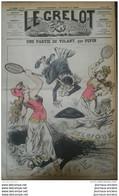 1878 Journal Satirique LE GRELOT - UNE PARTIE DE VOLANT  Par PEPIN - FRANCE - BELGIQUE - MEUSE - 1850 - 1899