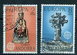 Europa CEPT 1974 Andorre Espagnol - Andorra Y&T N°81 à 82 - Michel N°88 à 89 (o) - 1974