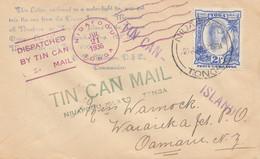 Toga: Blechdosenpost - To New Zealand 1936, Tin Can Mail - Tonga (1970-...)