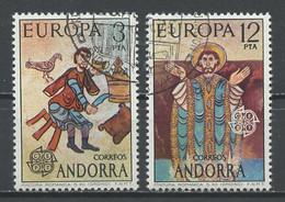 Europa CEPT 1975 Andorre Espagnol - Andorra 1975 Y&T N°89 à 90 - Michel N°96 à 97 (o) - 1975