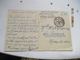 Occupation Allemagne Tresor Et Postes 47  Sur Carte Siegburg Guerre 14.18 - 1. Weltkrieg 1914-1918