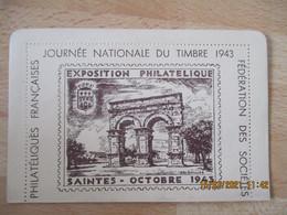 1943 Carte Lettre  Federale Saintes Illustration - 1921-1960: Modern Period