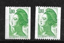 France  N°2378a Et Rare 2378d GB Numéros  Rouges  Neufs * * TB = MNH VF Voir Scans Soldés    Le Moins Cher Du Site ! ! ! - Unused Stamps
