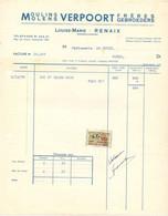 Factuur Facture - Renaix Ronse Louise Marie - Molens Verpoort Moulins  - 1955 - 1950 - ...