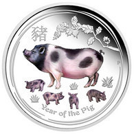 Piece 1 Oz 29 G : 999 Argent Silver COIN ONE DOLLAR AUSTRALIA PIG COCHON 2019 - Unclassified